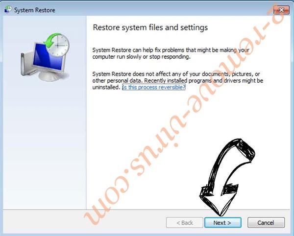 Get rid of Mercury ransomware - restore init