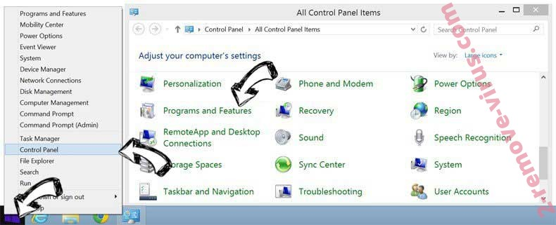 Delete CoordinatorData Adware from Windows 8