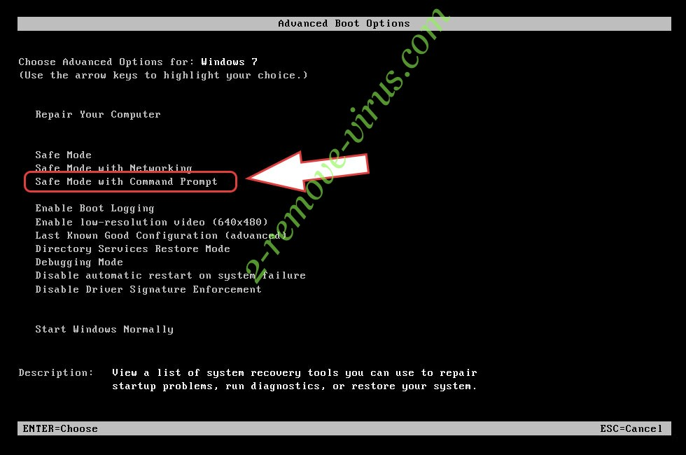 Remove VIAM Ransomware - boot options