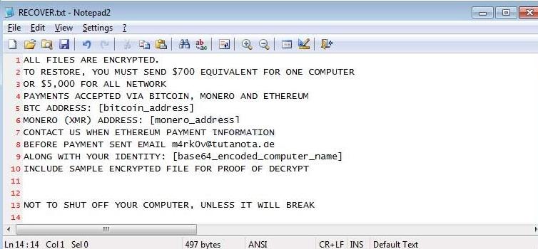 LazagneCrypt Ransomware