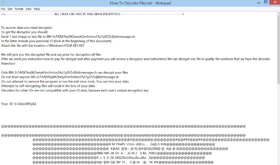 BtcKING ransomware