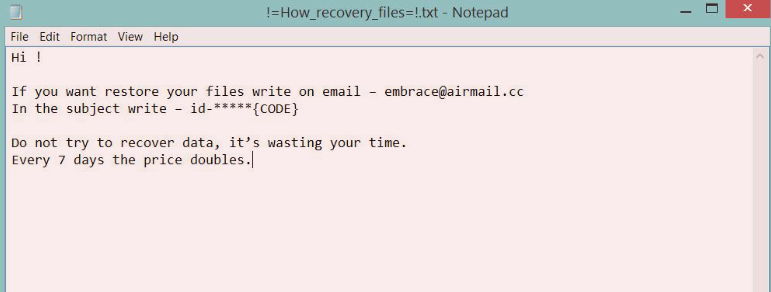 Embrace Ransomware