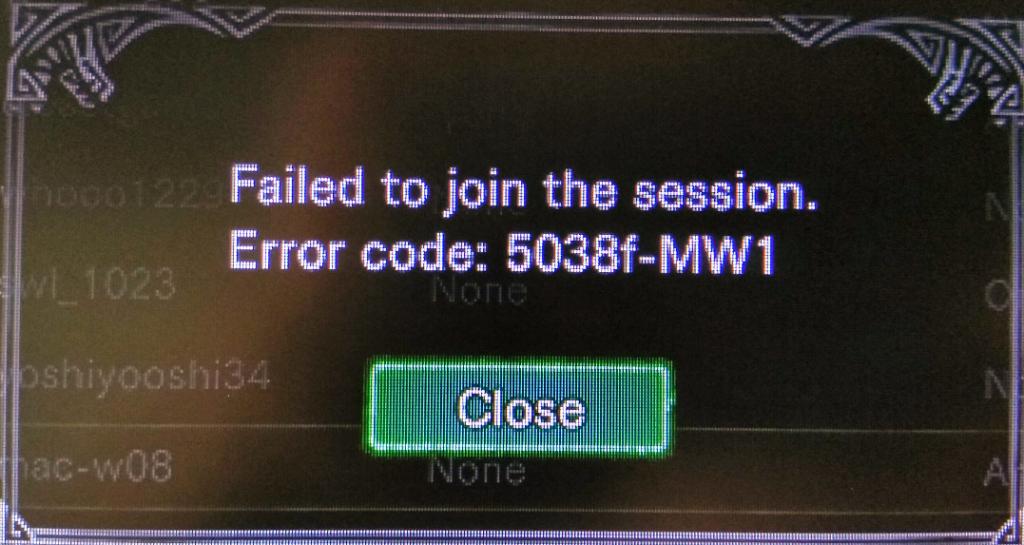 Remove Error Code 5038f-mw1