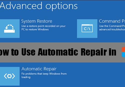 Windows 8 reparera verktyg