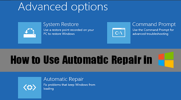 Windows 8 Repair Tool