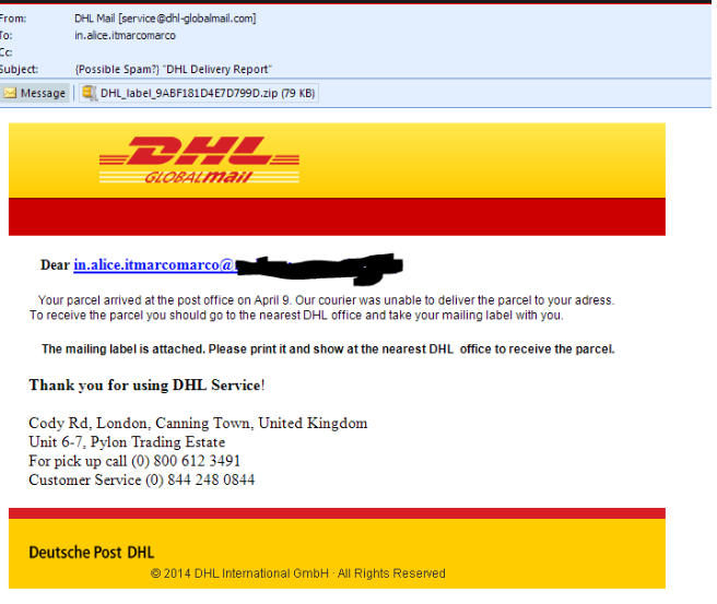 DHL Express Email Virus