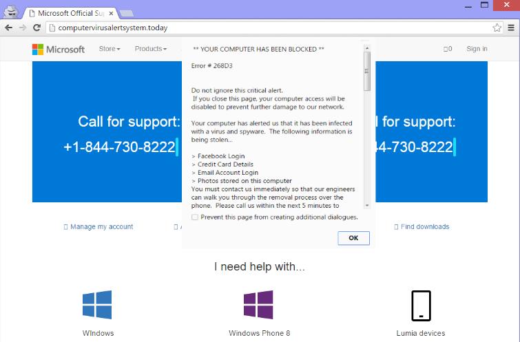 Microsoft Help Desk Tech support scam