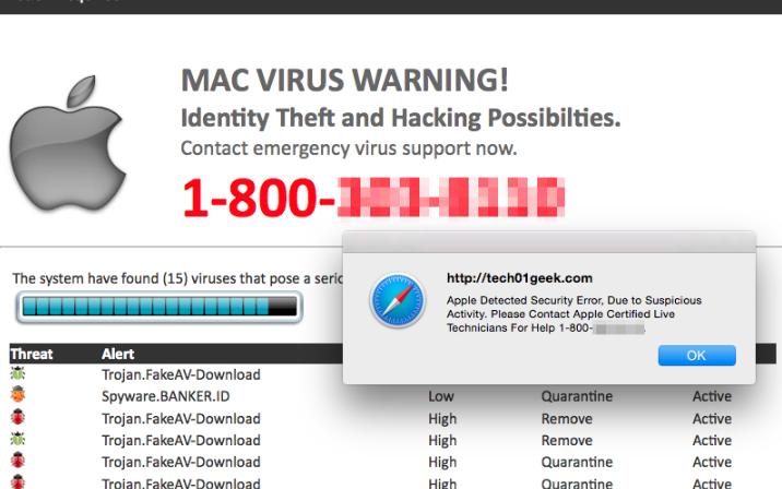 Voice Saying Virus Found POP-UP Scam