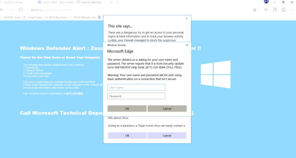 Microsoft Edge virus