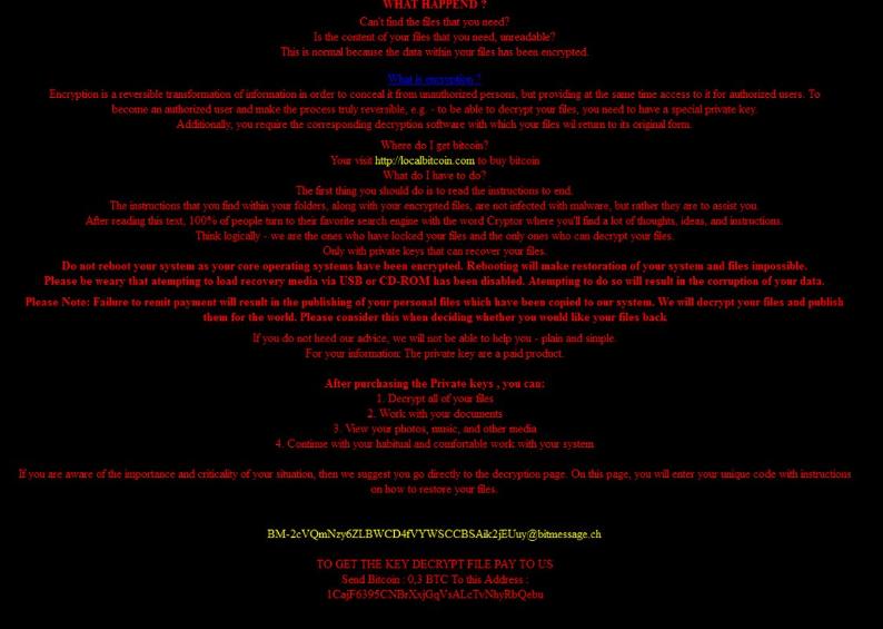 CRYPTR file virus