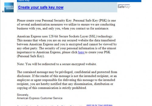 AMEX Email Scam entfernen
