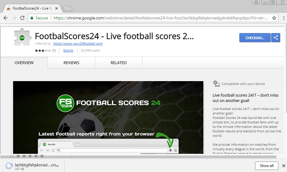 FootbalScores24 Virus