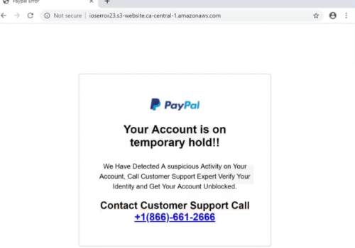 PayPal Account Is On Hold POP-UP Scam-O que é