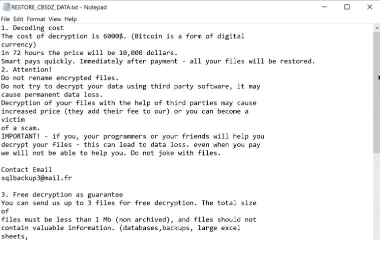 cbs0z ransomware
