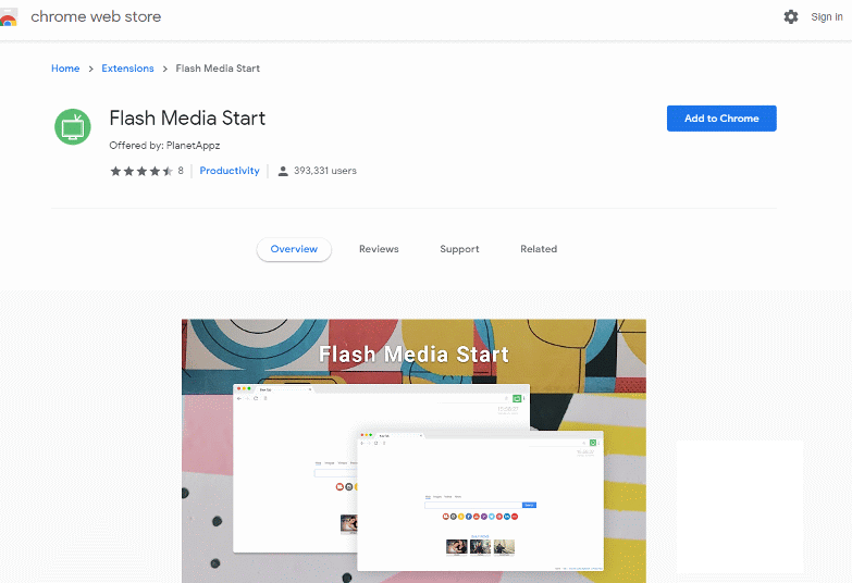 Flash Media Start