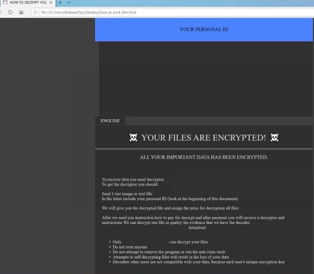 FoSTE ransomware