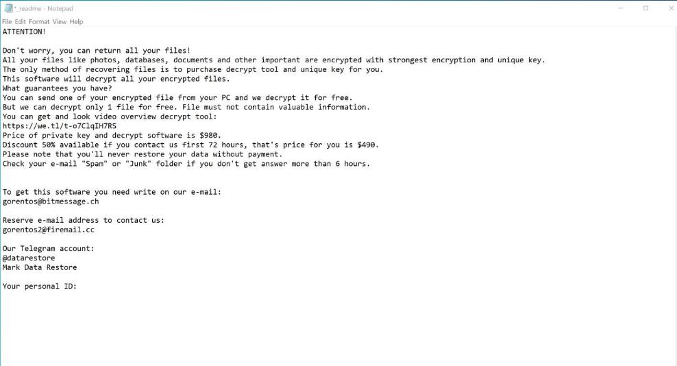 NDAROD ransomware