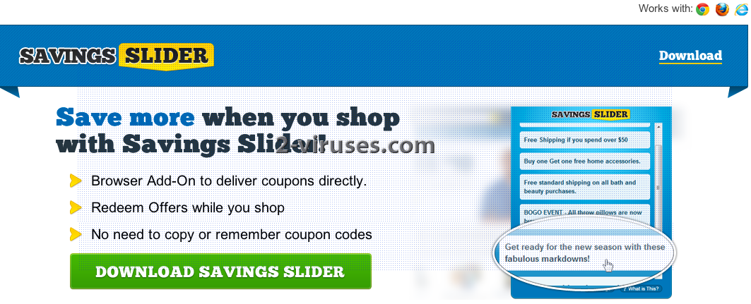 Savings Slider