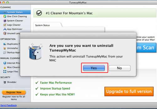 Fjerne TuneupMyMac