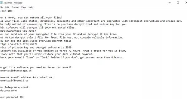 Carote ransomware