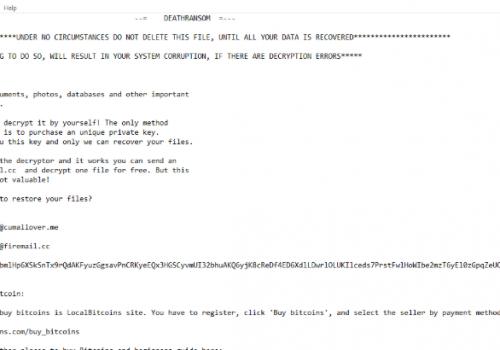 Menghapus DeathRansom ransomware