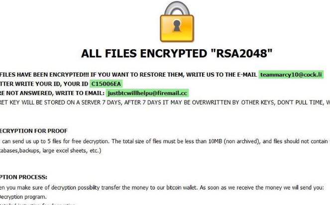 Rimuovere Kharma ransomware