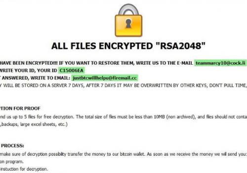 Menghapus [teammarcy10@cock.li].kharma ransomware