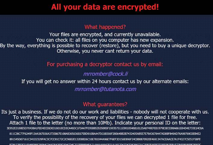 M3g4c0rtx ransomware