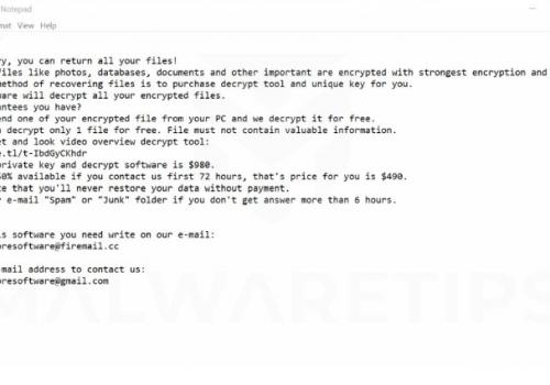 Fjerne .Mosk extension ransomware