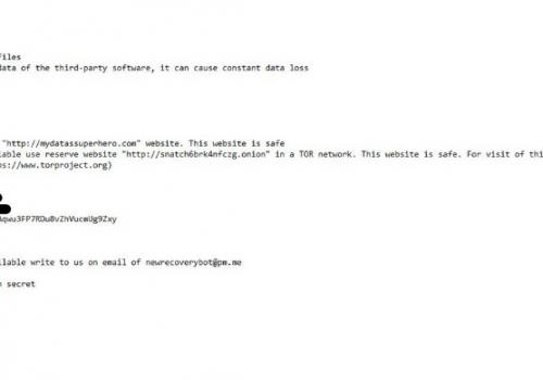 Verwijderen Snatch ransomware