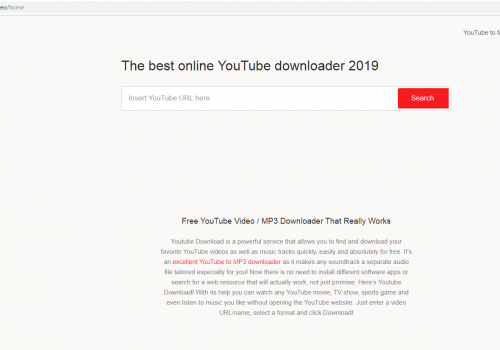 Postup odebrání Youtubedownload.video
