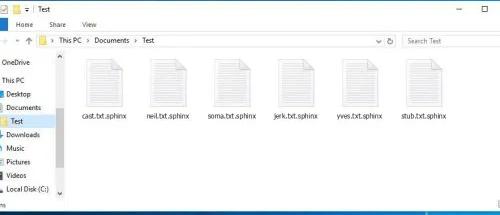 .sphinx extension ransomware Verwijdering