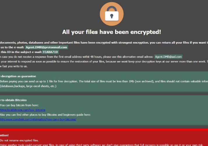 Poistaa .DMR64 file ransomware