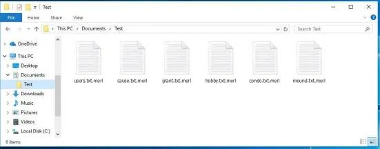Menghapus .Merl file ransomware