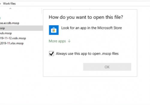 เอา .Msop extension ransomware