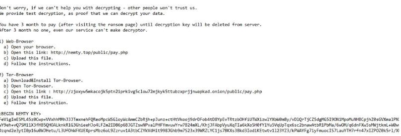NEMTY 2.2 REVENGE ransomware