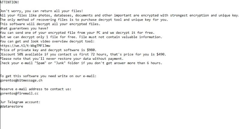 Pysta ransomware