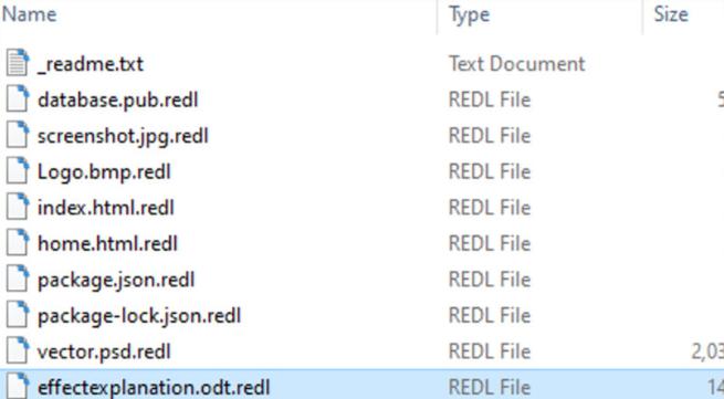 REDL ransomware