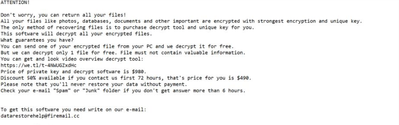 Redl extension Ransomware