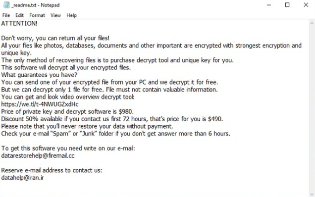 Righ File-locking Virus