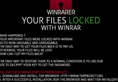 Menghapus WinRARER ransomware