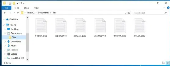 pysa files ransomware