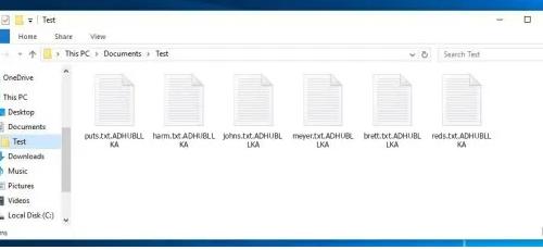 Odstranit .ADHUBLLKA files ransomware