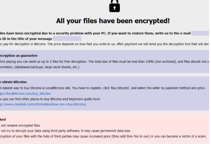 ازاله .Caley files ransomware