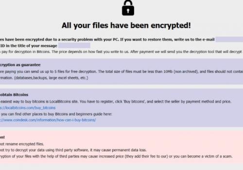 เอา .Caley ransomware