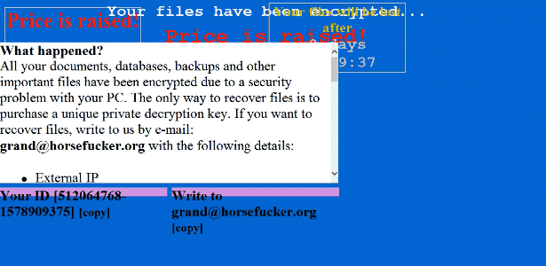Fjern CryLock ransomware