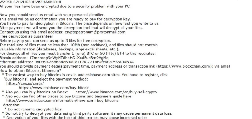 Remove CryptoPatronum ransomware