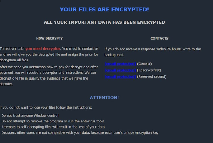 Mark extension ransomware