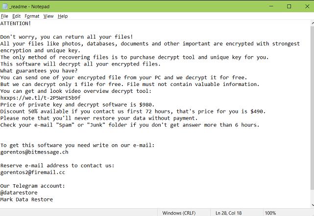 Mark ransomware