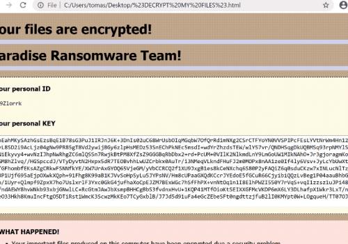 Quitar PRT ransomware